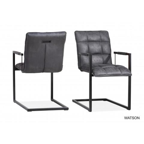 Vintage Accoudoir GrisUniversal Chaise Mobilier Style Watson Avec 4c3jq5ALR